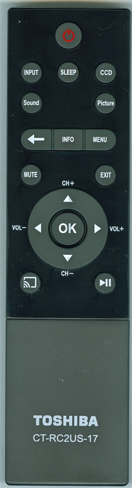 TOSHIBA PK11V022911 CT-RC2US-17 Genuine OEM Original Remote