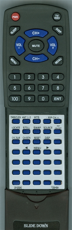 TOSHIBA 23120242 CT-9557 Custom Built Redi Remote