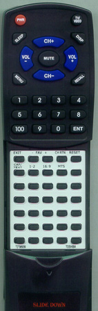 TOSHIBA 72796939 CT-847 Custom Built Redi Remote