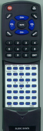 TOSHIBA 75010932 CT-90302 Custom Built Redi Remote