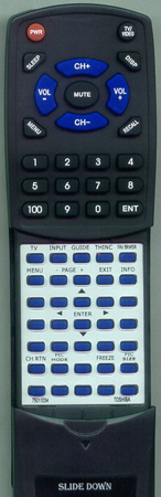 TOSHIBA 75011034 CT90303 Custom Built Redi Remote