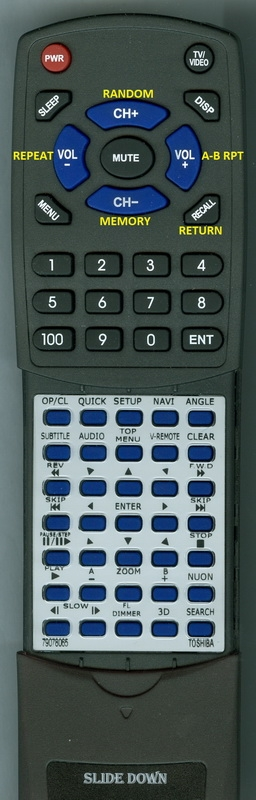 TOSHIBA 79078065 SE-R0029 Custom Built Redi Remote