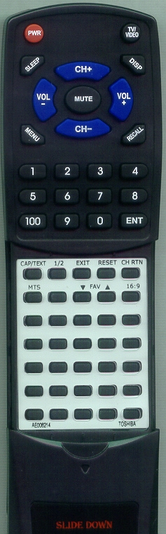 TOSHIBA AE006214 CT-878 Custom Built Redi Remote