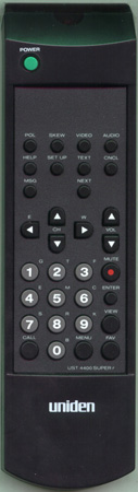 UNIDEN UST4400SUPER UST4400SUPER Genuine  OEM original Remote