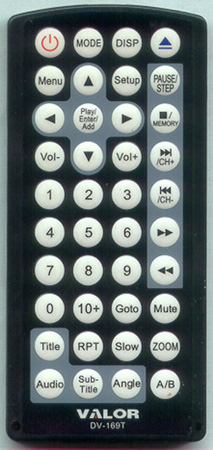 VALOR DV169 DV-169T Genuine OEM original Remote