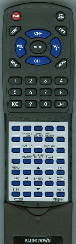 VIEWSONIC A-00008828 Custom Built Redi Remote