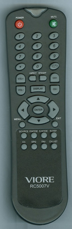 VIORE GBIP5.018.3066RSRH RC5007V Genuine  OEM original Remote