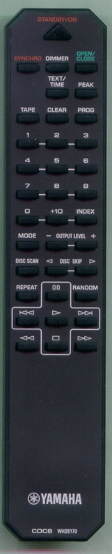 YAMAHA WH261700 CDC8 Genuine OEM original Remote