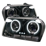 Chrysler 300 05-07 CCFL LED Projector Headlights - Black