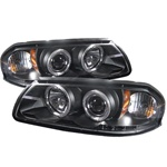 Chevy Impala 00-05 Halo LED Projector Headlights - Black