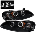 Chrysler Sebring 01-03 4DR & Convertible / Dodge Stratus 01-04 Halo Projector Headlights - Black
