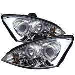 Ford Focus 00-04 Halo Projector Headlights - Chrome