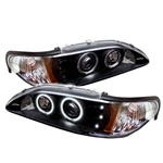 Ford Mustang 94-98 1PC CCFL LED Projector Headlights - Black