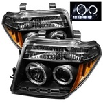 Nissan Frontier 05-08 / Pathfinder 05-07 Halo LED Projector Headlights - Black