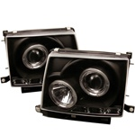 Toyota Tacoma 97-00 Halo LED Projector Headlights - Black
