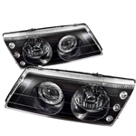 1995-1998 Nissan Sentra/200SX Projection Headlights - black