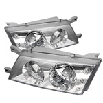 1995-1998 Nissan Sentra/200SX Projection Headlights - Chrome