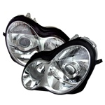 01-05 M-Benz C Class W203 Projection Headlights - Chrome