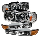 GMC Yukon & YukonXL 00-06 / 99-06 GMC Sierra Projector Headlights w/ Bumper Lights - Chrome