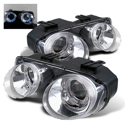 Acura Integra 94-97 Halo Projector Headlights-chrome