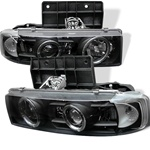 Chevy Astro 95-04 Halo Projector Headlights - Black