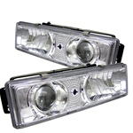 Chevy C-10 88-98 C/K Series Halo Projector Headlights - Chrome