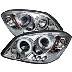 Chevy Cobalt 05-07 /05-07 Pontiac G5 Halo Projector Headlight CCFL LED Projector Headlights - Chrome