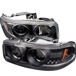 GMC Yukon 01-06 Denali / 00-06 Yukon XL/SLT Halo LED Projector Headlights - Black