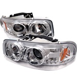 GMC Yukon 01-06 Denali / 00-06 Yukon XL/SLT Halo LED Projector Headlights - Chrome