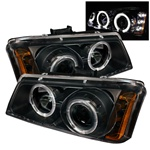 03-06 Chevy Silverado Halo Projector Headlights - Black