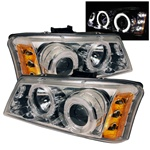 03-06 Chevy Silverado Halo Projector Headlights - Chrome