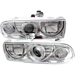 Chevy S10 98-02 Halo Projector Headlights - Chrome