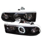 Chevy S10 98-02 CCFL Projector Headlights - Black