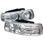 Chevy Silverado 99-02 Halo LED Projector Headlights - Chrom