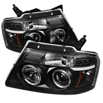 Ford F150 04-08 Version 2 Halo LED Projector Headlights - Black