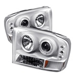 Ford F250 99-04 1PC Halo LED Projector Headlights - White