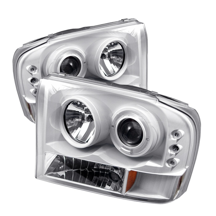 Ford F250 99-04 1PC Halo LED Projector Headlights
