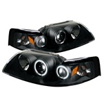 Ford Mustang 99-04 CCFL Projector Headlights - Black
