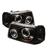Ford Ranger 01-08 1PC Halo Projector Headlights - Black