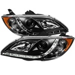 Mazda 3 04-08 4DR Sedan ( Non Hatchback ) DRL LED Projector Headlights - Black