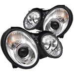 Mercedes Benz CLK 98-02 Halo Projector Headlights - Chrome