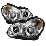 Mercedes Benz W203 C-Class 01-05 Halo Projector Headlights - Chrome
