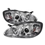 Toyota Corolla 2003-2008 Halo Projector Headlights - Chrome