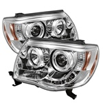 Toyota Tacoma 05-07 Halo LED Projector Headlights - Chrome