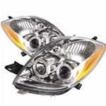 Toyota Yaris 06-08 2DR Halo Projector Headlights - Chrome
