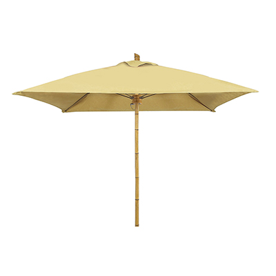 6 Foot Bambusa Square Umbrella