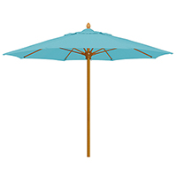 6 Foot Square Bridgewater Umbrella