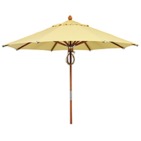 Wood Umbrella 9 Foot Diameter