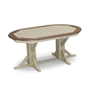 "44""x 66"" Oval Framed Pedestal Bar Height Table"
