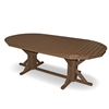 "46""x 88"" Oval Pedestal Bar Height Table"